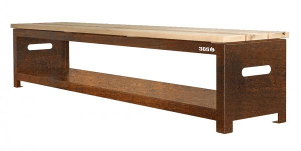 Bench 200 cm - Gartenbank und Holzlager